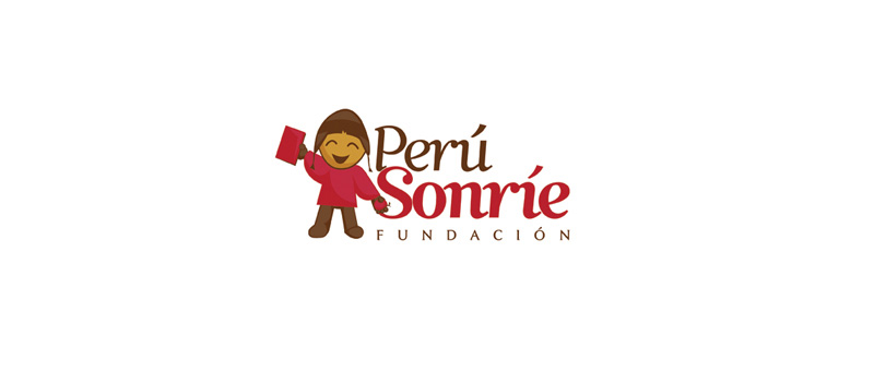 Diseño de logotipo para fundación Perú Sonríe