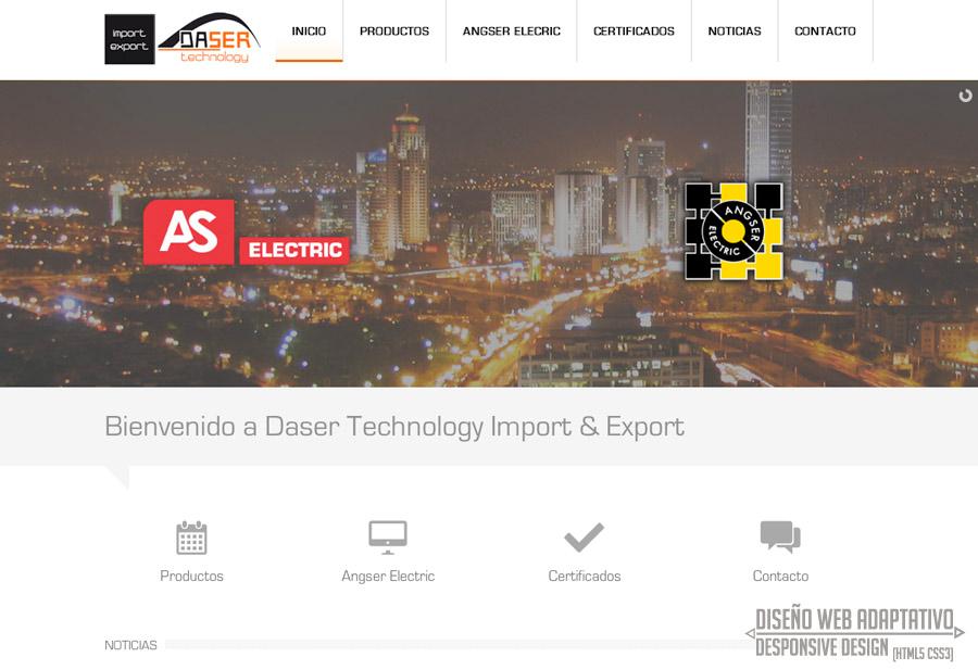 diseño de pagina web empresa electrica