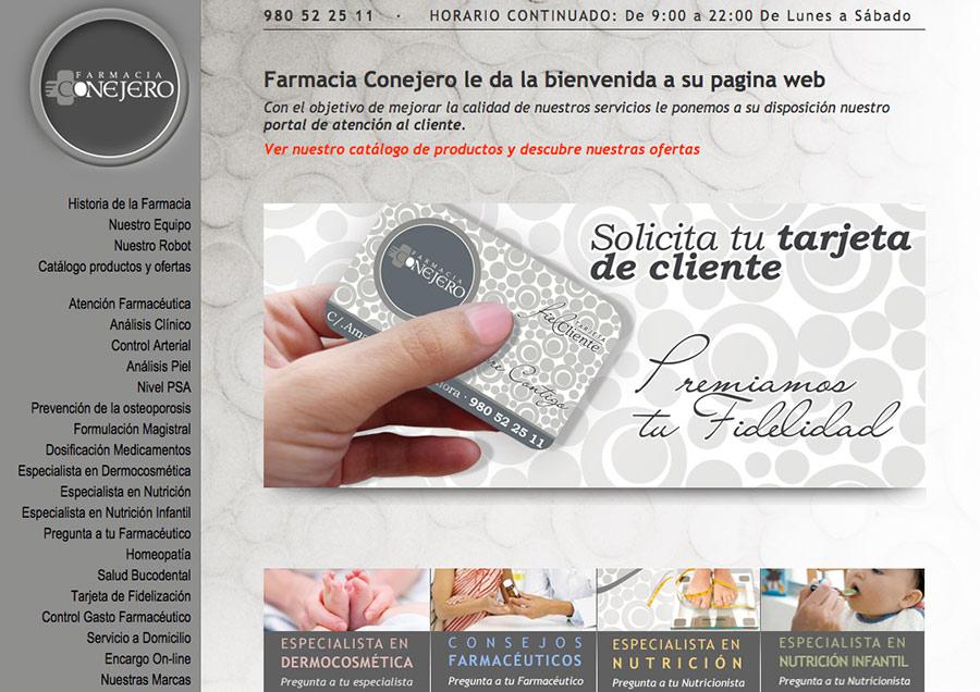 diseño de pagina web para farmacia