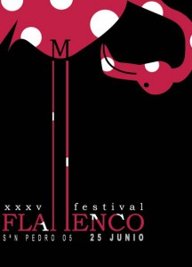 diseño de cartel de flamenco