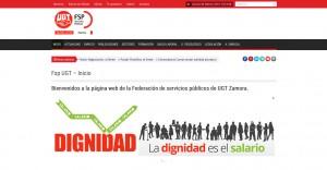 Diseño web zamora, página web para Fsp UGT
