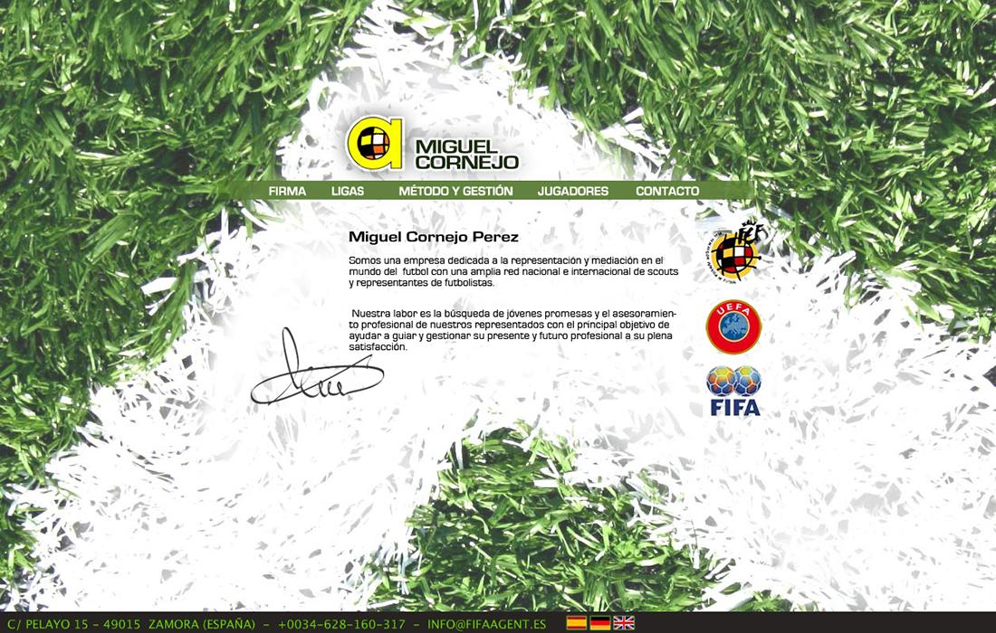 web para agente de fútbol