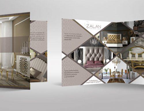 Diseño de díptico para empresa de diseño de interiores