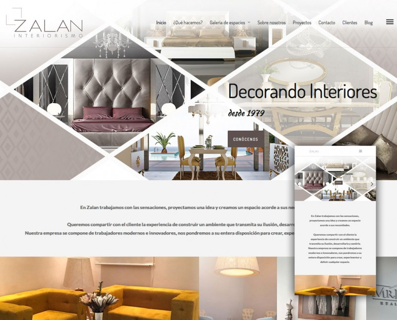 Diseño web Zalan Interiorismo