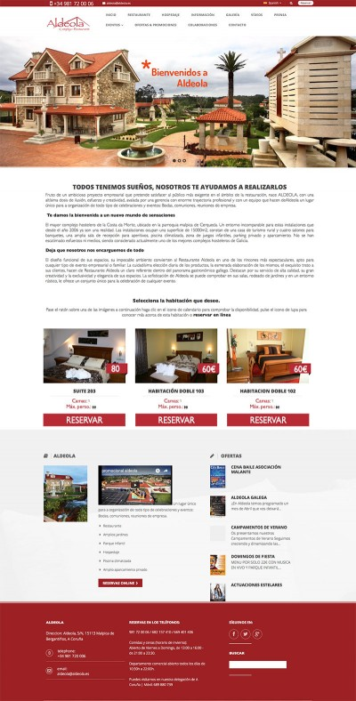 pagina web para hotel restaurante