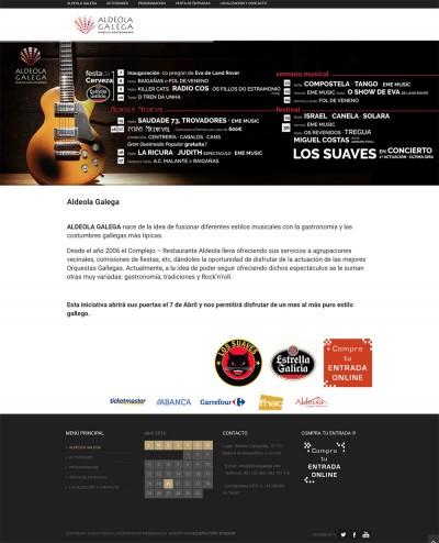 pagina web festival música