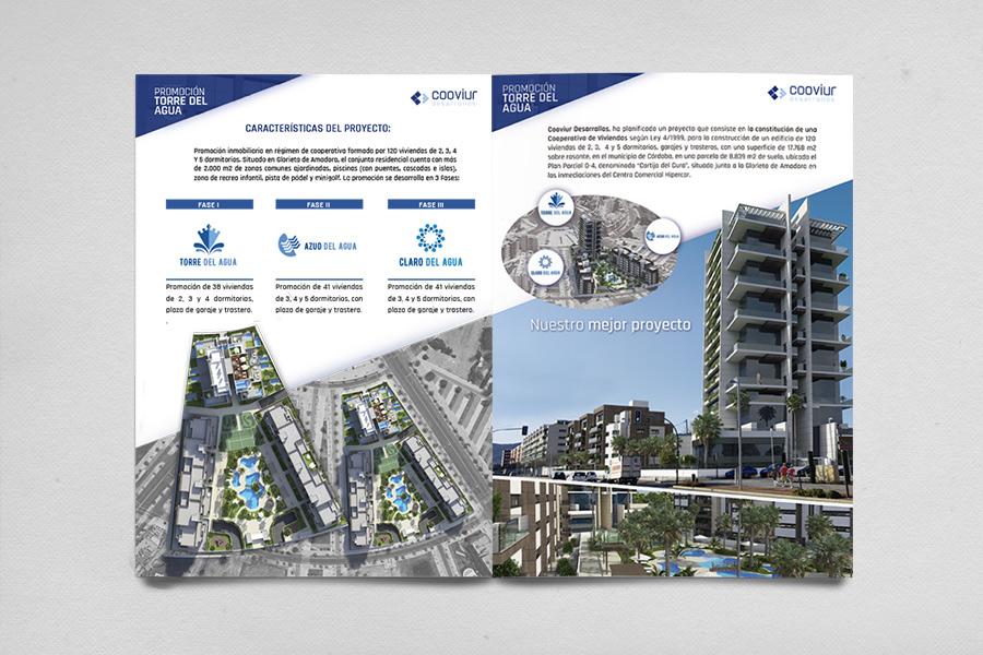 diseño dossier promocion inmobiliaria