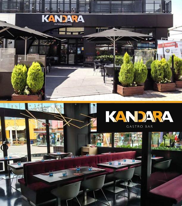 Diseño de interiores y exterior para gastrobar restaurante Kandara