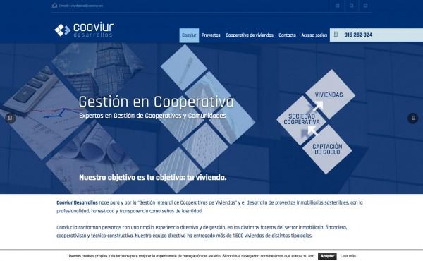 Página web para Cooviur desarrollos