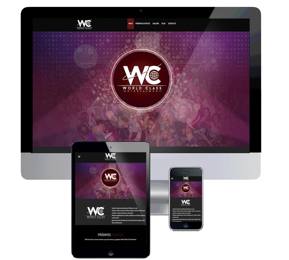 Página web para promotora de eventos musicales