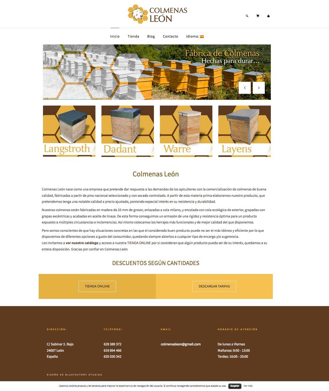 Tienda online para colmenas, apicultura
