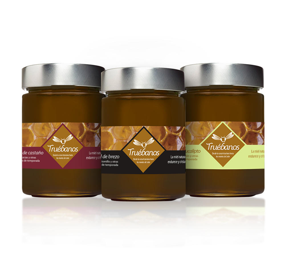 Diseno Packaging con etiqueta de miel