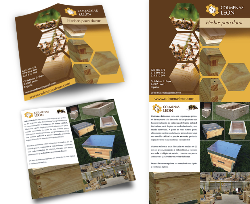 diseño de diptico para promocionar productos