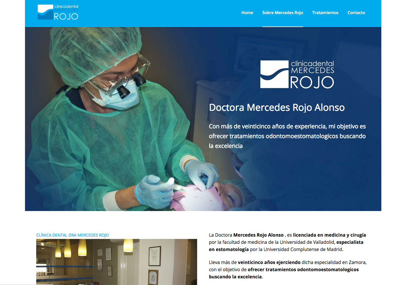 Página web clinica dental