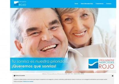 Página web Clínica dental Mercedes Rojo