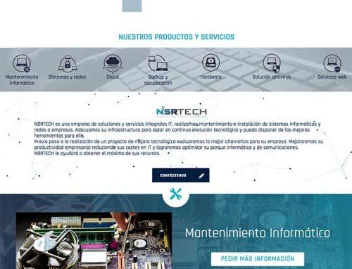 Diseño de página web para empresa de soporte y mantenimiento informático