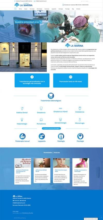 diseño de pagina web para clinica