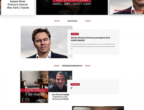 Diseño de Blog profesional para 100 Voces