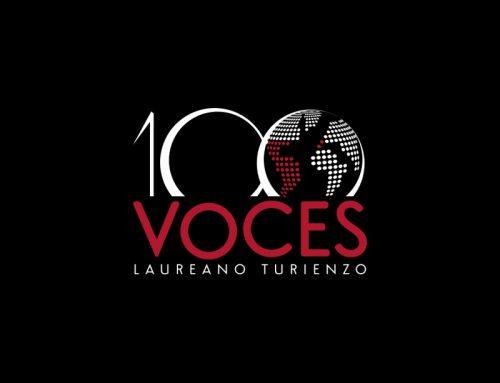 Diseño de imagen corporativa de 100 Voces