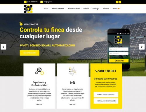Diseño de página web para Angser Electric