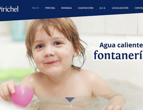 Diseño de página web para Pirichel
