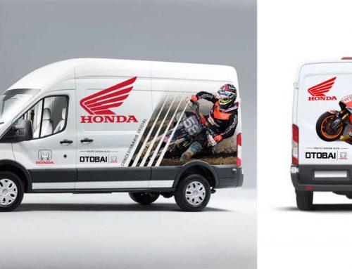 Diseño rotulación vehículos Honda