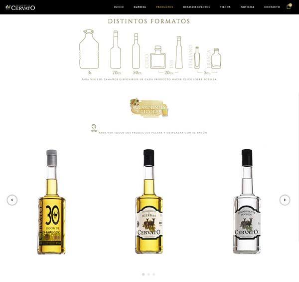 página web para venta de bebidas