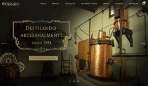 página web para tienda de bebidas alcohólicas