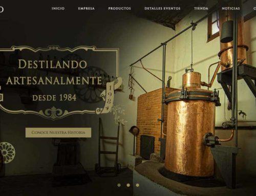 Diseño de página web y tienda online para Aguardientes y licores