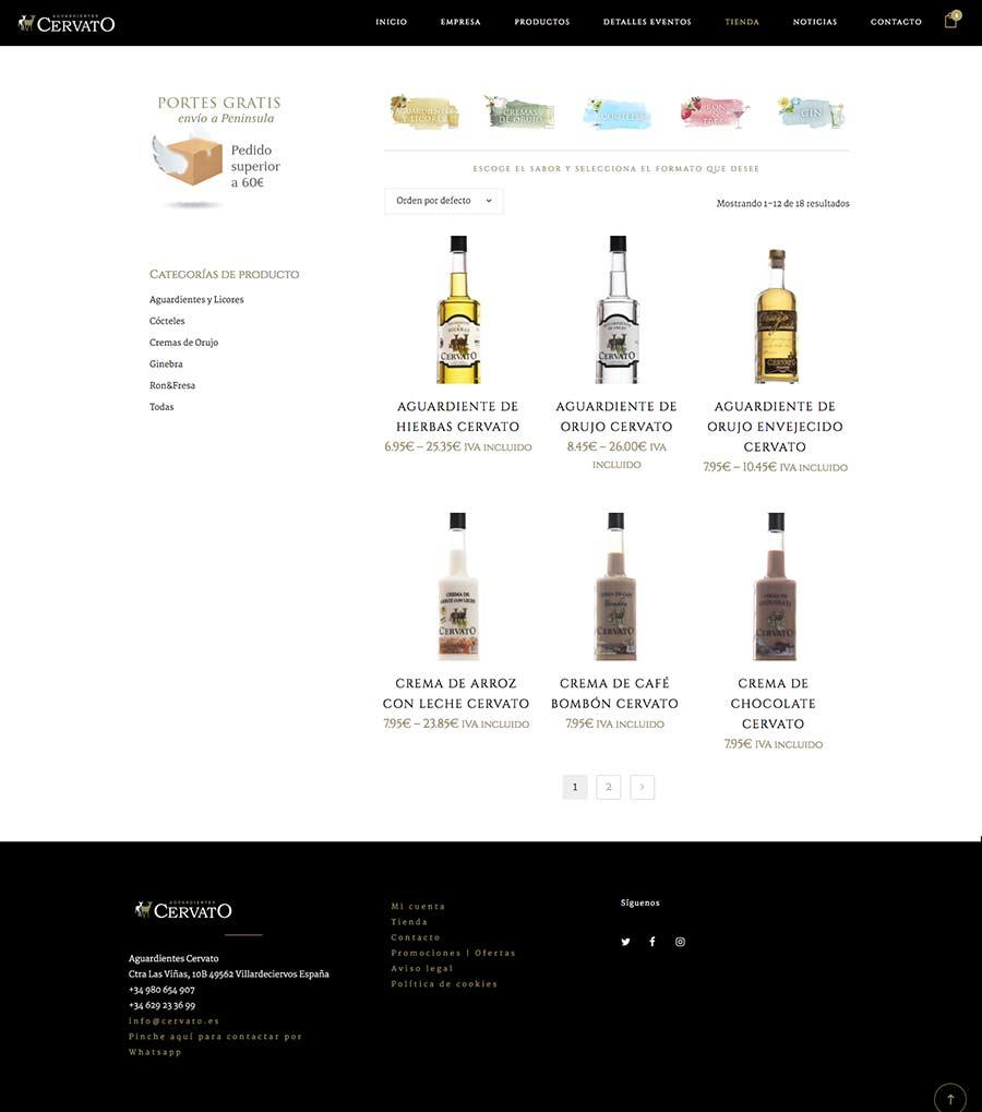 tienda online para venta de bebidas alcohólicas