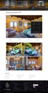 página web para hotel de lujo
